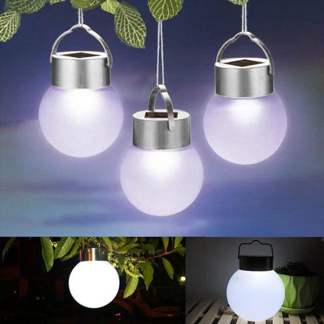 2 PCS LED solaire balle lampe Rechargeable Nuit Lampe Lanterne ...