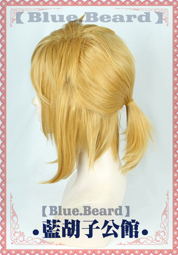 The Legend Of Zelda Breath Of The Wild Link Short Golden Pony Tail Heat Resistant Hair Cosplay Costume Wig Free Wig Cap