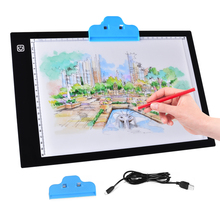 "9.05"" x 12.4"" A4 LED Light Box Professional Animation Ultra Thin Drawing Board Touch Variable Illumination Trackpad Work light"