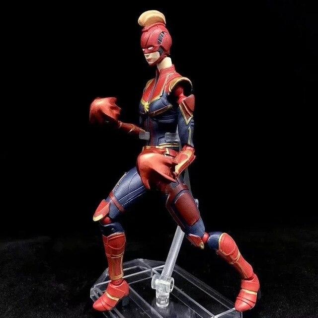 New Hot! Endgame 17 cm Os Vingadores Super-heróis Capitão Marvel Figura de Ação PVC Crianças Brinquedos Boneca de presente de Natal