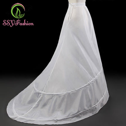 Wholesale SSYFashion The Bride Petticoats For Wedding Dress Sweep Train Underskirt Lining Accessories