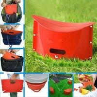 Yazi PC Plastic File Like Foldable Stool Ottoman Portable Document Fishing Beach Chair Furniture Kids Stools