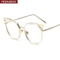 High Quality Brand Sexy Cat Eye Glasses Women Fashion Eyeglasses Vintage Half Metal Eyewear Frame Black