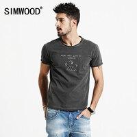 SIMWOOD Shorts Sleeve T Shirts Men 2017 New Spring Summer 100 Pure Cotton Vintage Cartoon Tees