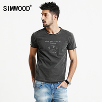 SIMWOOD Shorts Sleeve T Shirts Men 2017 New Spring Summer 100 Pure Cotton Vintage Cartoon Tees