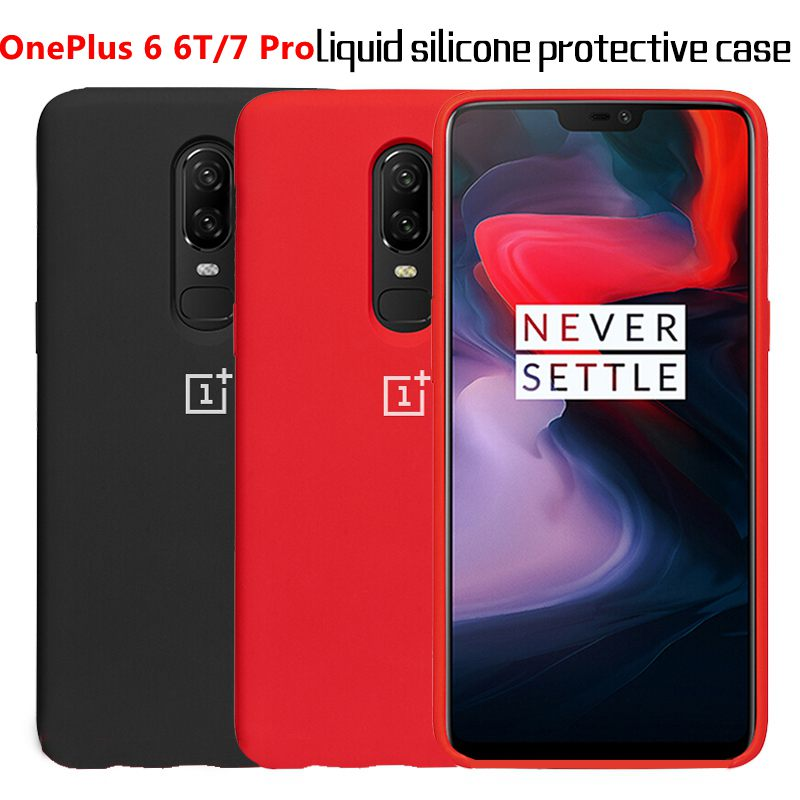 <font><b>Oneplus</b></font> <font><b>6</b></font>/6T Liquid Silicone TPU Protective <font><b>Case</b></font> <font><b>Oneplus</b></font> 7 7T Pro <font><b>Official</b></font> Silicone Smooth Full Protective Phone Cover <font><b>Case</b></font> image
