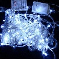 Фея 30 м LED Шторы свет шнура Водонепроницаемый новогоднее; Рождественское украшение лампы Свадебная вечеринка люстра Luminaria ночник