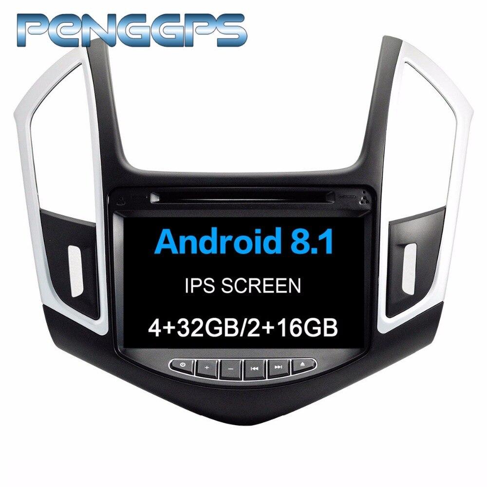 2 Din CD DVD Lecteur Android 8.1 Autoradio pour Chevrolet Chevy Cruze 2012-2015 Navigation GPS IPS Écran 1080 p Autostereo Unité