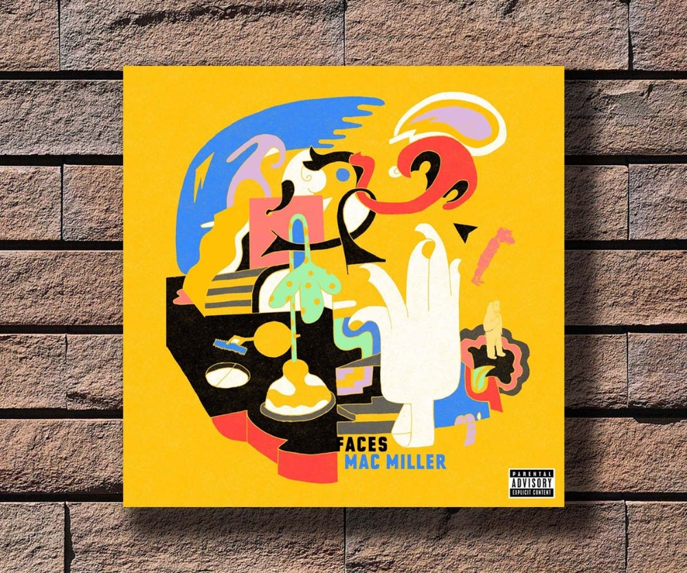 G 386 Mac Miller Music Rapper Album Cover Fabric Home Decoration Art ...