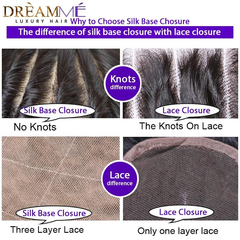 Dreamme Cheveux Crépus Droit Remy Brésilien Cheveux Humains Soie - Cheveux humains (noir) - Photo 6