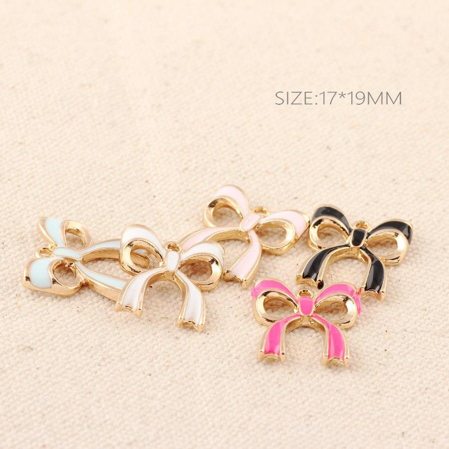 Jewelry Necklace Bracelet Diy Pendant Dangle Charms Handmade Gold-Color Rabbit 10pcs