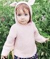 Новый Девочка мальчика Бежевый Коричневый стерео Животных ухо Свитер С Капюшоном для Новорожденных Newbaby Прекрасные Милые Пуловер Вязаный Кардиган