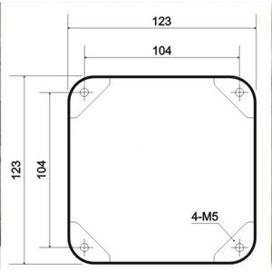 Image 5 - 1 PC 123*123*120 millimetri di Ferro Nero Coperchio Del Trasformatore Metallo Triodo Protect Box Caso Box Hifi Audio vintage Tubo Amplificatore FAI DA TE