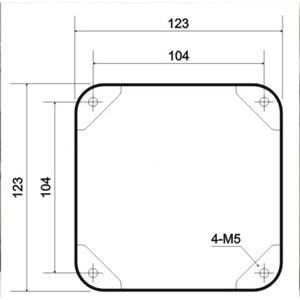 Image 5 - 1 pc 123*123*120mm preto ferro transformador capa metal triode proteger caixa caso gabinete de áudio alta fidelidade do vintage tubo amplificador diy
