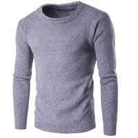 effa0fb79 2017 Thick Winter Sweaters Knitted Men Pullovers Knitwear Round Neck Full  Sleeve Warm Man Casual Clothes