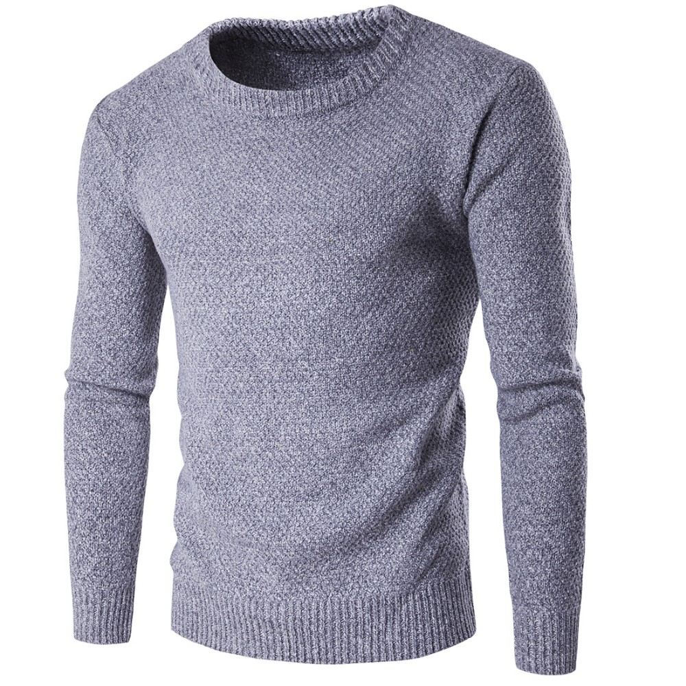 2017 Thick Winter Sweaters Knitted Men Pullovers Knitwear Round Neck Full Sleeve Warm Man Casual Clothes Knitting Asian M-XXL