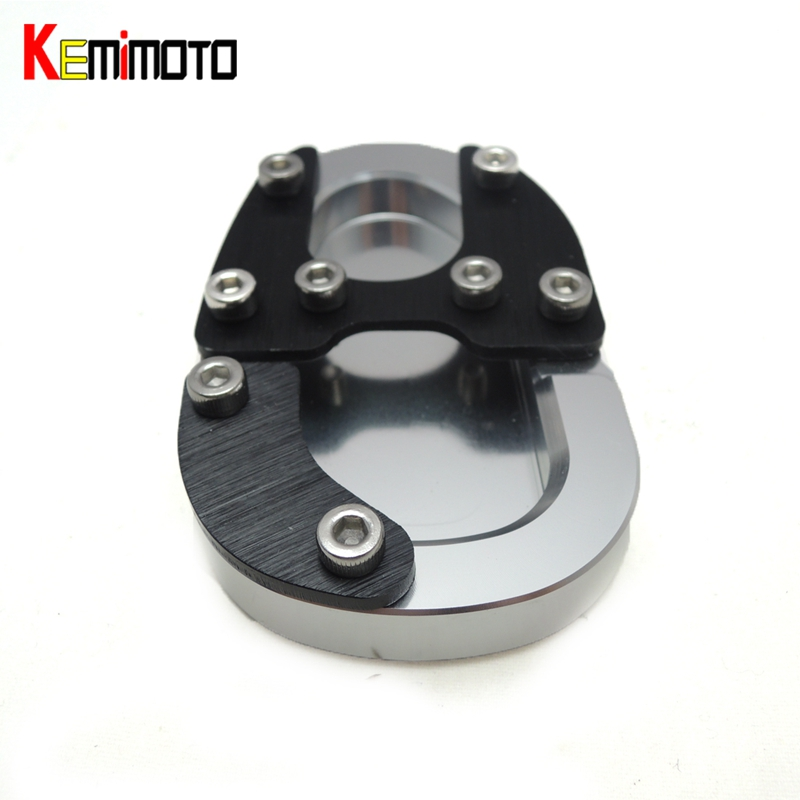 KEMiMOTO For YAMAHA MT09 FJ09 Tracer Motorcycle Accessories Kickstand Kick Stand Plate MT 09 MT-09 Tracer FJ-09 2014 2015 2016