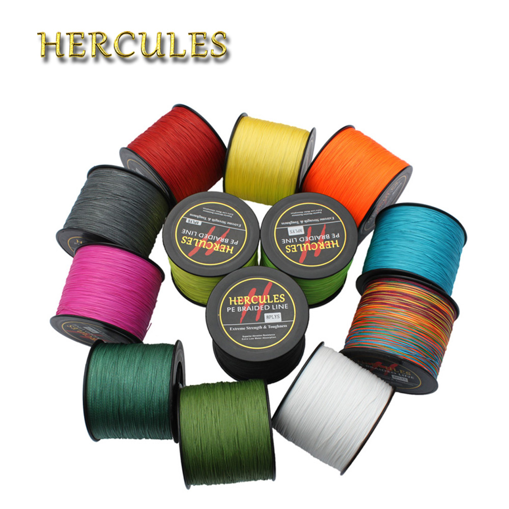 цены Hercules 1500M Fishing Line Big Game 180LB 8 Strands 100% PE Braided Fishing Line 1640Yds 0.70mm Superior Extreme Carp Fishing