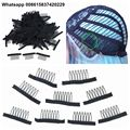 FREE Shipping wholesale 800 pieces 7teeth black wig accessories wig combs attach caps wig combs insert wig clips