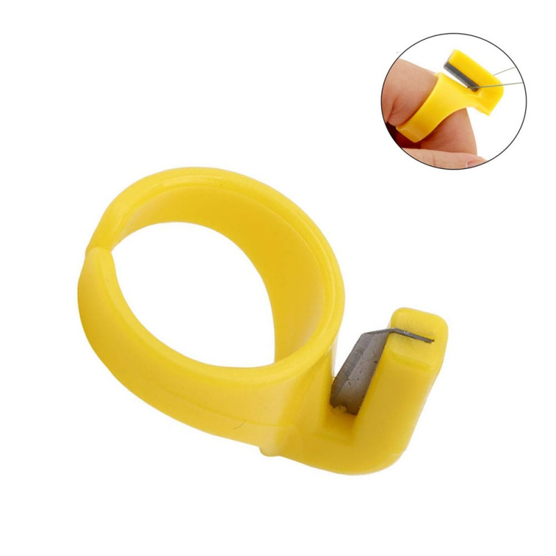 12pcs Fishing Line Cutting Ring Finger Ring Sewing Thimble Thread Cutter Sewing Accessories Handcraft Tool