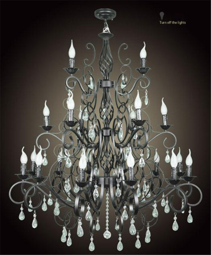 21 heads arms Chandelier E14 Candle Black Vintage Metal Home Chandeliers lustre suspension luminaire crystal hanging Résultat Supérieur 15 Frais Lustre Suspension Metal Photos 2017 Phe2