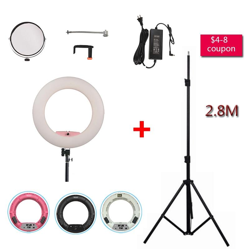 Yidoblo Pink FD-480II Studio Ring Light 480 LED Video Light Digital Lamp Photographic day Lighting + Light standing (ma 280cm)