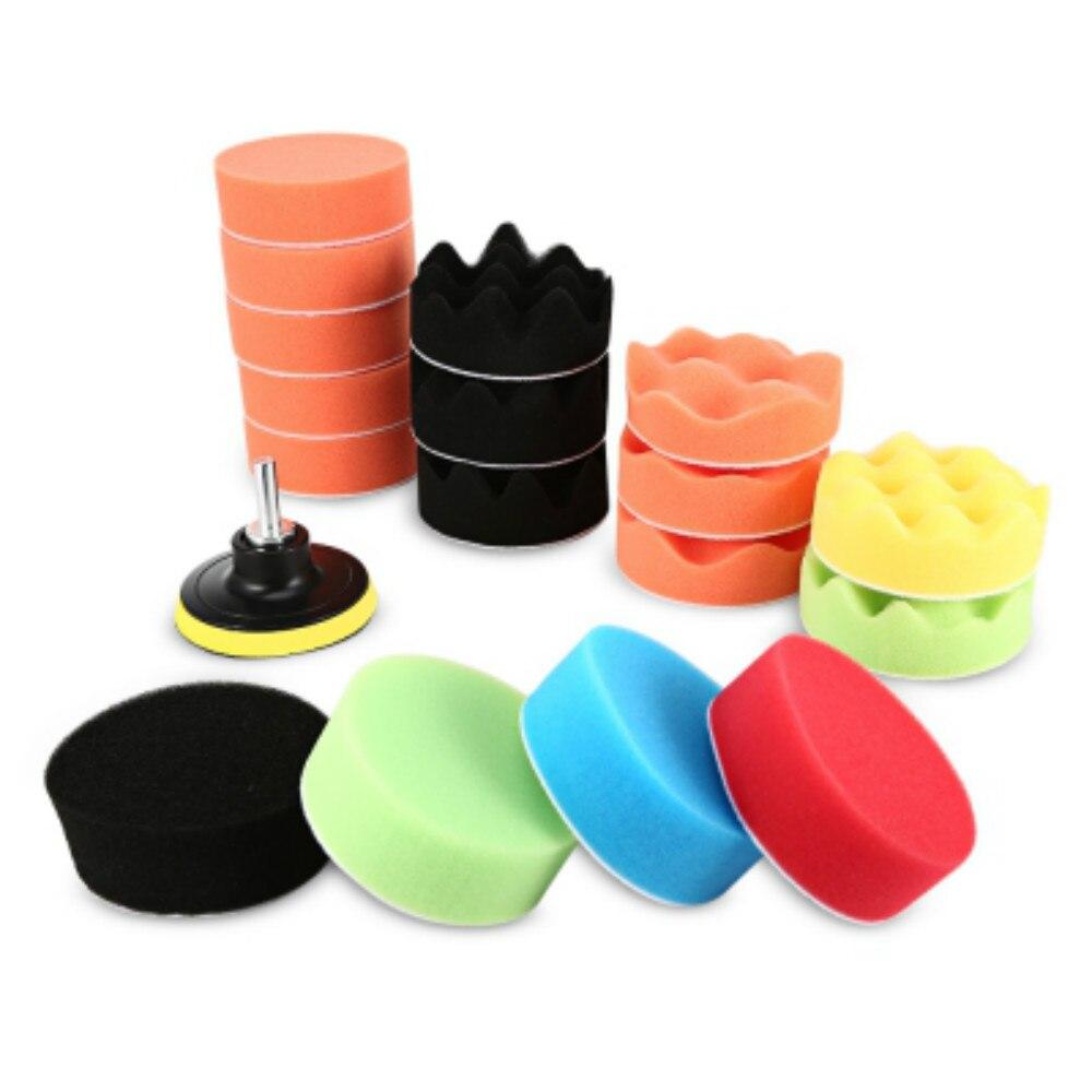 10 Pieces Set Gross Polishing Buffer Pad Set Buffing Pad: 19 Pcs 80mm High Gross Polishing Sponge Pad Set For Car