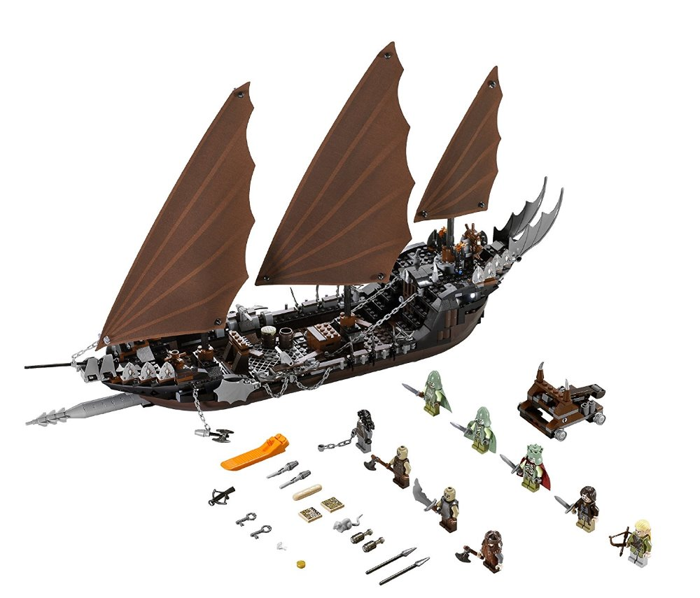 Lepin 16018 Genuine The lord of rings Series The Ghost Pirate Ship Set Building Block Brick Toys 79008