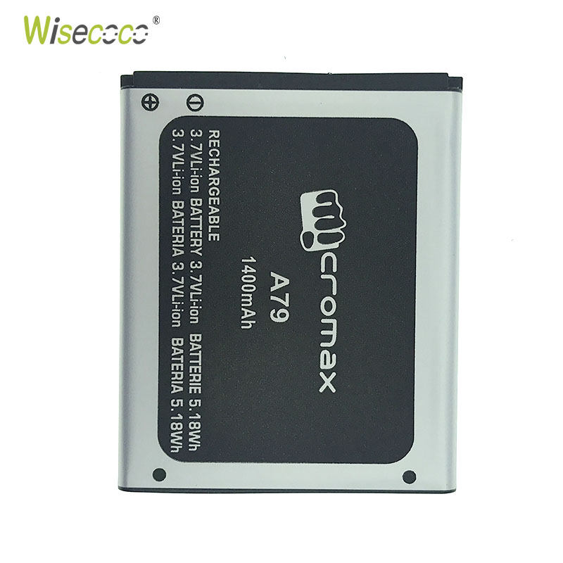 WISECOCO In Stock New Original Battery For Micromax A79 A 79 Bolt Mobile Cell Phone With Tracking Number