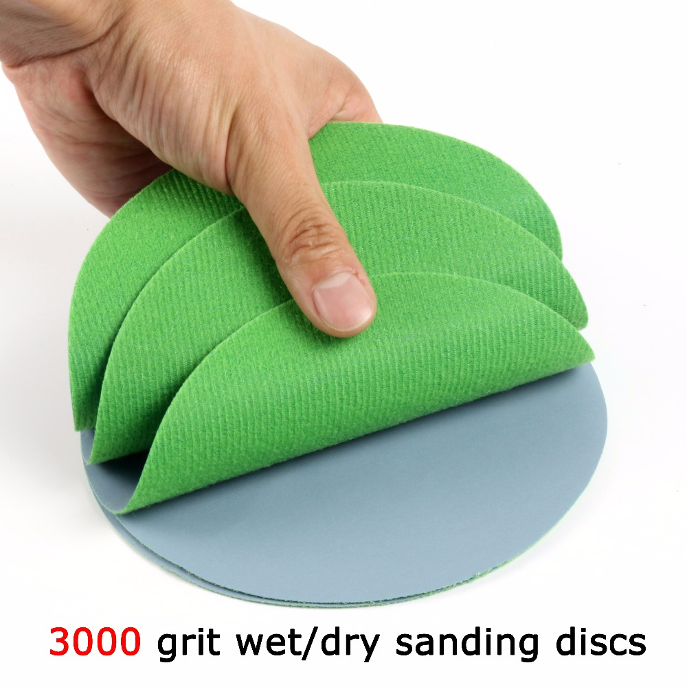 30 pcs lot 1 6 inches Hook and Loop Dry Wet Dry Flocking Sanding Discs for Polishing Sanding Pad Rotary Tools Accessories in Abrasive Tools from Tools