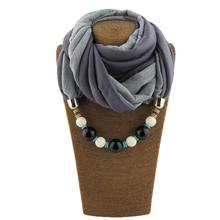 New design style mix color matching beads pendant ladies scarf jewelry necklace free shipping