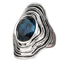 Beautiful as Described Vintage Antique Silver Bohemian Boho Rings for Women Anillos Bague Femme Wedding Sapphire Ring