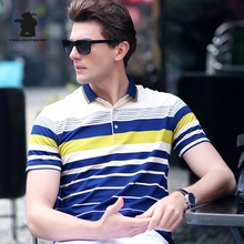 2017 New men's Polo Shirts Designer Fashion Striped High Quality Plus Size Business Casual Polo Shirts For Men 3 Colors CB17E206