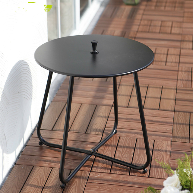 simple modern iron leisure coffee table small round table corner outdoor balcony tea table in. Black Bedroom Furniture Sets. Home Design Ideas