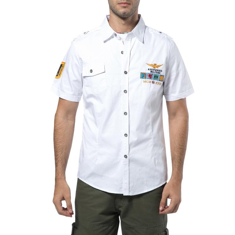 US $14 49 31% OFF|2019 NEW Short Sleeve Shirts Fashion Airforce Uniform  Military Short Sleeve Shirts Men's Dress Shirt Free Shipping-in Casual  Shirts