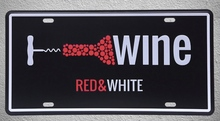 1 pc Red White Wine bar shop drink whisky store plaques Tin Plates Signs wall man cave Decoration Metal Art Vintage Poster
