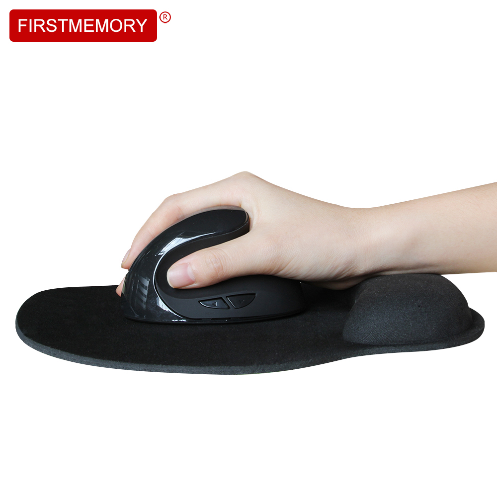 Wireless Mouse 2.4Ghz Healthy Ergonomic Optical Vertical Mice 800/1200/1600DPI With Wrist Rest Mouse Pad 5D PC Computer Laptop