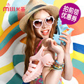 In the summer of 2016 new fashion beach shoes retro crystal thick plastic sandals M lisa sandals jelly shoes sexy women