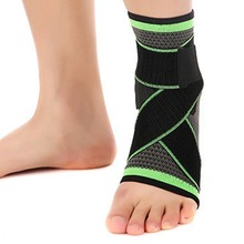 REIZ Adjustable Elastic Nylon Strap Compression Knitting Ankle Support Brace Sports Basketball Football Ankle Support Pad Guard