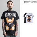 2017 New teddy bear cartoon pattern mens T-shirt fashion brand summer t shirts designer short sleeve men tshirt cotton 35wy