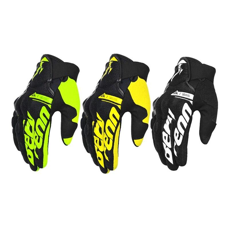 Drop ship Summer Motorcycle Gloves Men Guantes Moto Motorbike Motocross Riding Gloves Motorcycle Breathable Full Finger Gloves