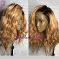 side part ombre synthetic lace front wig 14-26inch heat resistant synthetic wigs body wavy Brazilian hair lace front wig