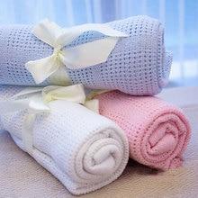 الحياكة بطانية طفل بطانية 1 قطعة مريحة الطفل المنتج بسيط