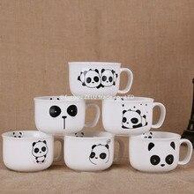 ZELU Panda Linda Tazas De Cerámica Taza de La Historieta de la Manera de Lona Leche taza de Café Té Taza de Cerveza Taza de Cumpleaños Regalo De Navidad En Casa decoración