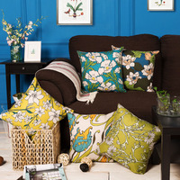 Classic Flower Colorful Custom Sofa Throw Pillow For Living Room Chair Bed Cushions Home Decorative Pillows