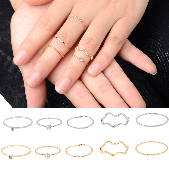 Mid knuckle rings