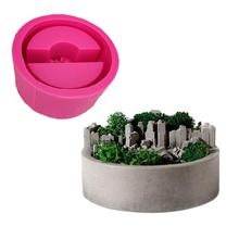 Silicone Mold Potted 3D Small Rockery Pot Micro Landscape Succulent Craft Diy Designer Concrete