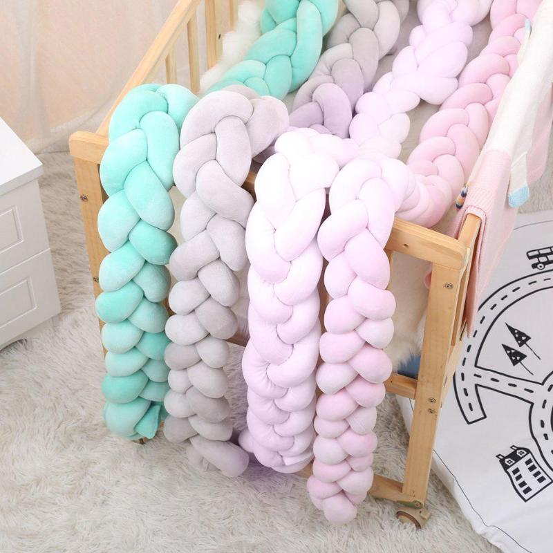 Baby Long Knotted Decorative Pillow Baby Bed Braid Bumper Crib Toys Sofa Cushion Stuffed Toy Sofa Cushions Baby Nap Toy