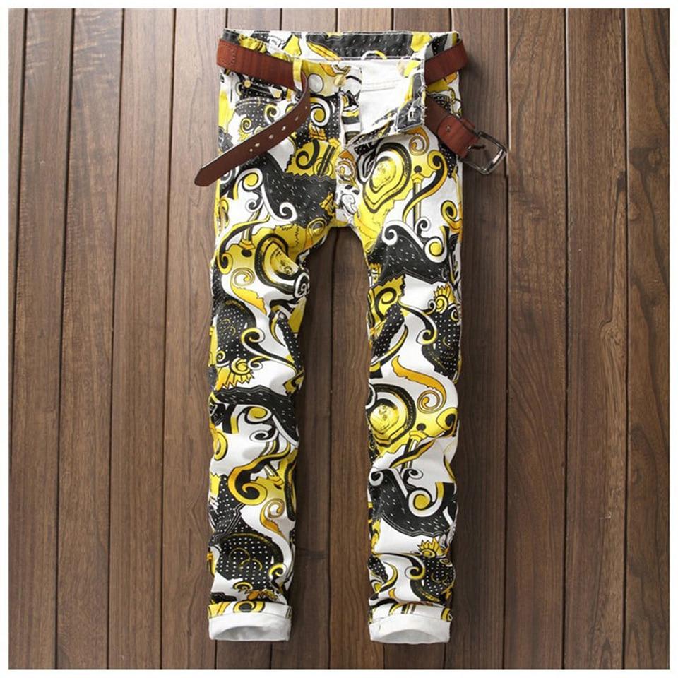 Floral Printed Skinny Jeans Men Slim Stretch Mens Designer Jean Hip Hop Casual Jogger Pants Male Skateboard Trousers Fashion ada instruments ironweld 160 с кейсом