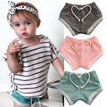 Toddler Kids Baby Boy Girls Hot Pants Cotton Striped PP Children Pants Bottoms